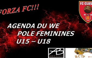 FC CLUSES AGENDA DU WE POLE FEMININ