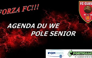 FC CLUSES AGENDA DU WE SENIORS