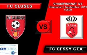 FC CLUSES AGENDA DU WE POLE SENIORS