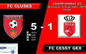FC CLUSES RESULTAT DU WE POLE SENIOR