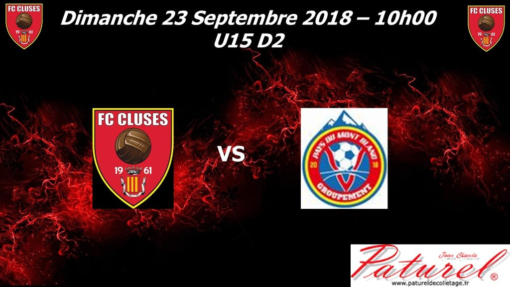 AGENDA DU WE POLE PRE FORMATION U15 é U13