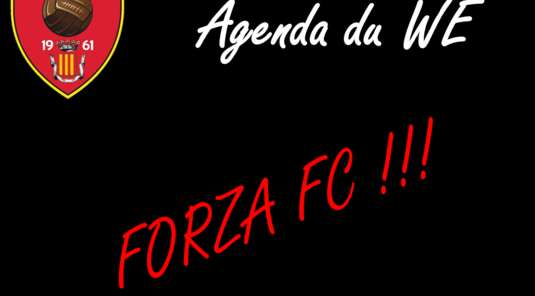 FC CLUSES AGENDA DU WE 23-24 Semptembre 2017